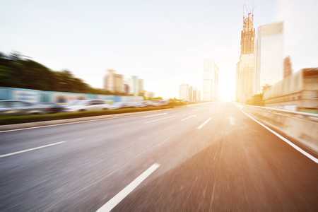 city scene: freeway road in modern shenzhen ,china