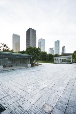 subway entrance: modern building and subway entrance