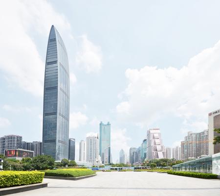 futian: modern building in shenzhen china Editorial