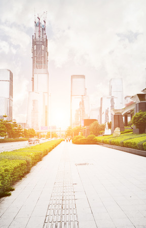 futian: modern building in shenzhen china Stock Photo
