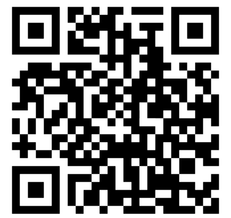 qrcode: sample qr code ready to scan with smart phone