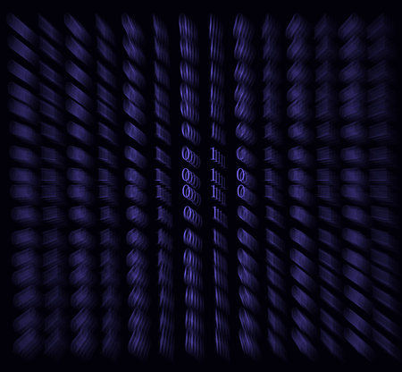 to encode: Technology digital background, glowing figures, binary code
