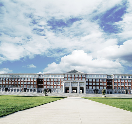 academia: Hall building in college Editorial