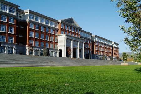 Hall gebouw in college Redactioneel