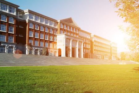 Hall building in college Stock Photo - 50623279