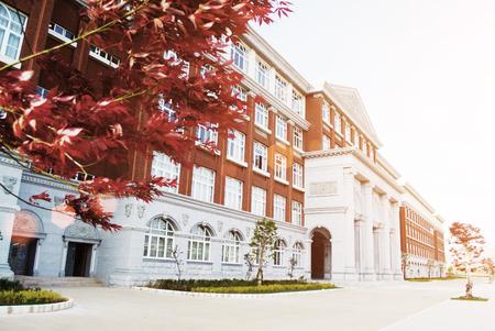 greece granite: Hall building in college Editorial
