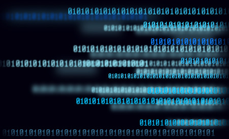 torrent: Technology digital background, glowing figures, binary code