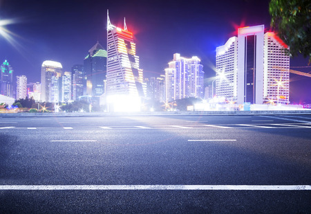 一個城市的夜景風景