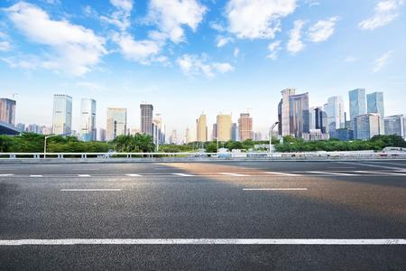 modern city road