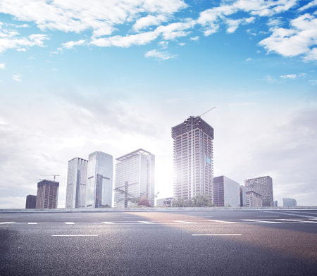 megapolis: modern building and city road