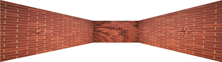 red brick: Abstract red brick geometric background