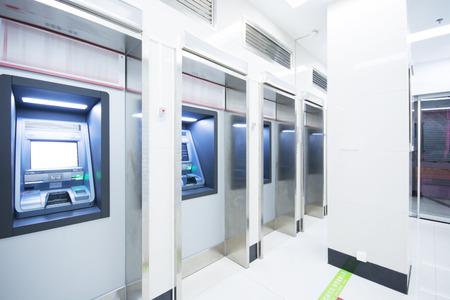 Distributeur automatique de billets à la banque Banque d'images