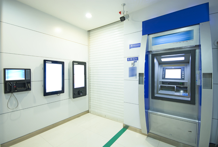 セルフサービス銀行 写真素材