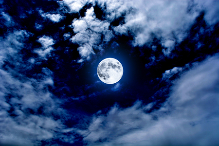 nightly: Nightly sky with large moon
