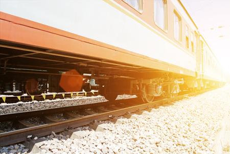 低角度視圖的火車