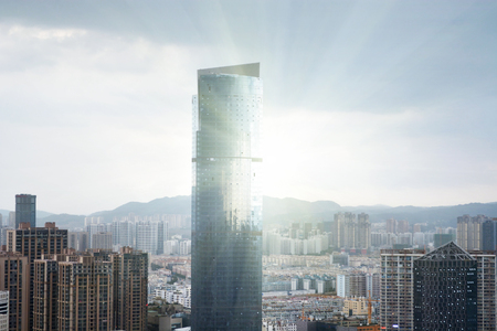Kunming city skyline 版權商用圖片 - 74751127