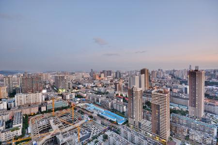 Modern cityscape in Kunming city 版權商用圖片 - 74696348