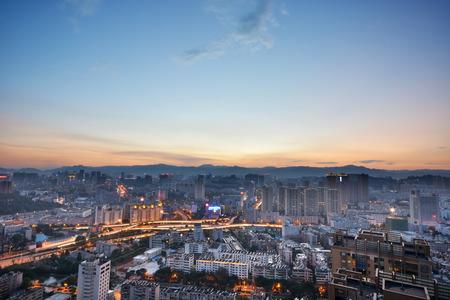 Modern cityscape in Kunming city