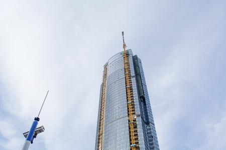 Construction Site Skyscraper and Crane