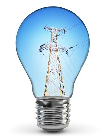 Glowing yellow light bulb Stock Photo