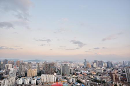 megapolis: Modern cityscape in Kunming city