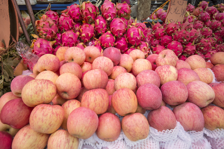 Fresh apple Pitaya  in city market