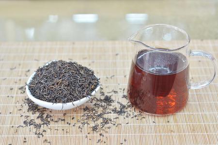 Teapot and black tea