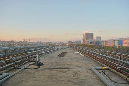 subway rail in City 版權商用圖片