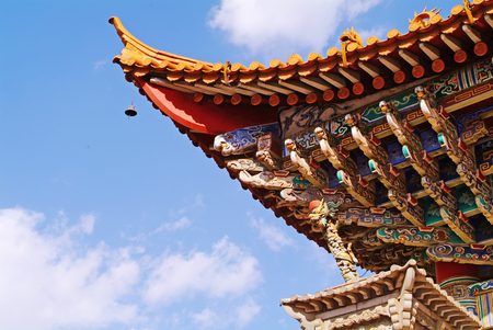 Traditional Style Eaves of China Stock Photo