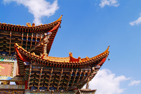 Traditional Style Eaves of China 免版税图像 - 72055746