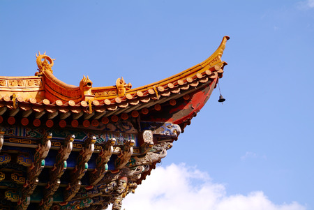 Traditional Style Eaves of China 免版税图像 - 72055745