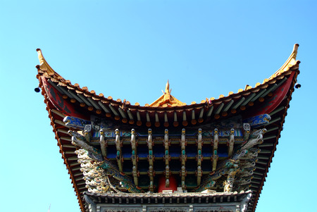 Traditional Style Eaves of China 免版税图像 - 72055747