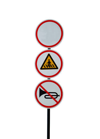illegal zone: traffic sign