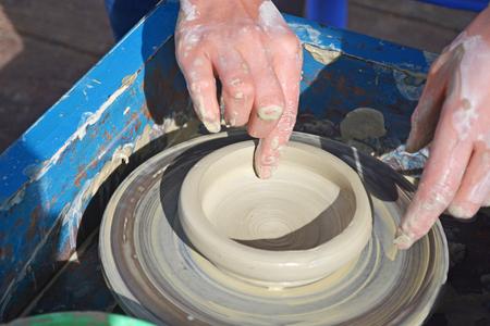 製作陶瓷藝術 版權商用圖片