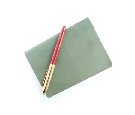writing pad: pen and book