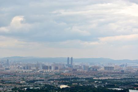 kunming: Skyline of Kunming, China Stock Photo