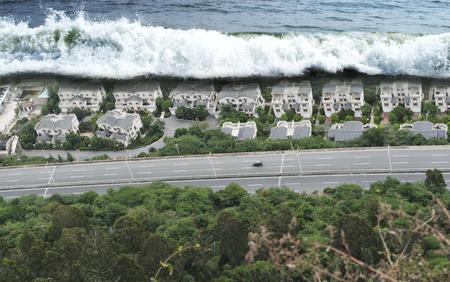 house of god: Tsunami Tidal Wave Natural Disaster