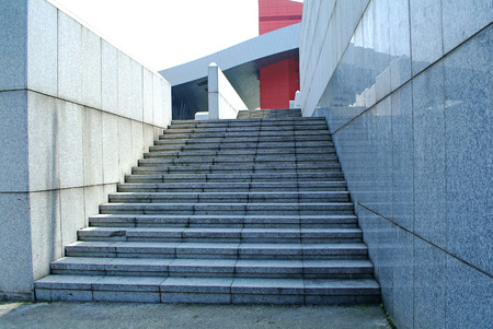 city buildings: staircase in modern city
