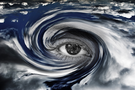 storm eye concept Stock Photo