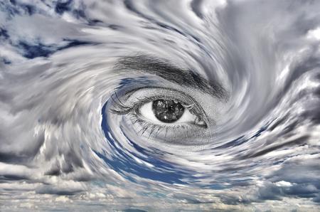 Sturm Auge Konzept Standard-Bild - 61725622