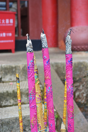 taoism: Incense sticks in Buddhist or taoism temple of china