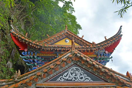 taoism: Chinese taoism Temple eaves molding.