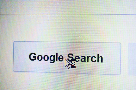 Google website home page search page