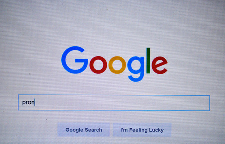google chrome: Google.com homepage. Google is one of the most popular search engines.