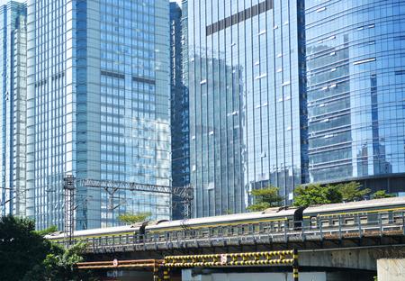 火車金融區 版權商用圖片 - 71404923