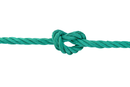 cordage: Rope with knot Stock Photo