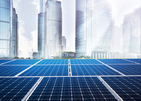 Solar panels and cities