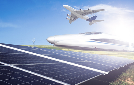 Photovoltaic , aircraft and train