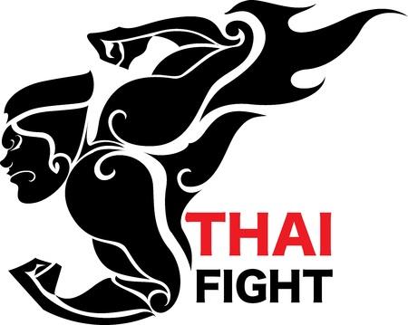 thai: arte lotta Vettoriali