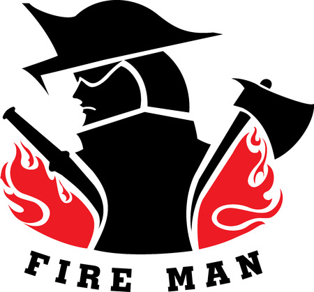 Fire man Ilustração